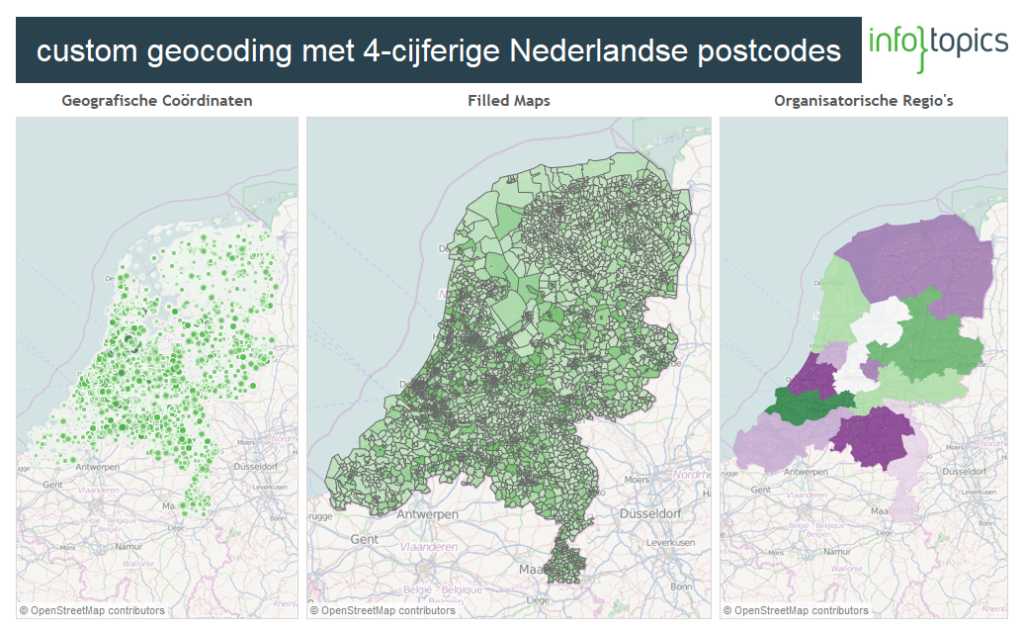 Blog 4-cijferige postcodes Nederland in Tableau - Dashboard custom geocoding