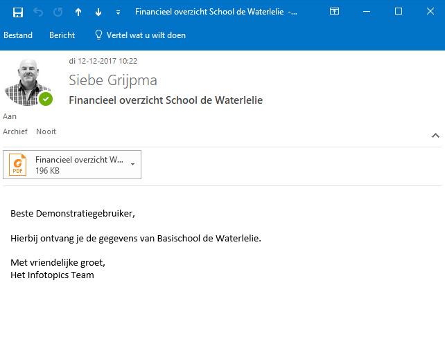 PDF Scheduler voorbeeld mailing