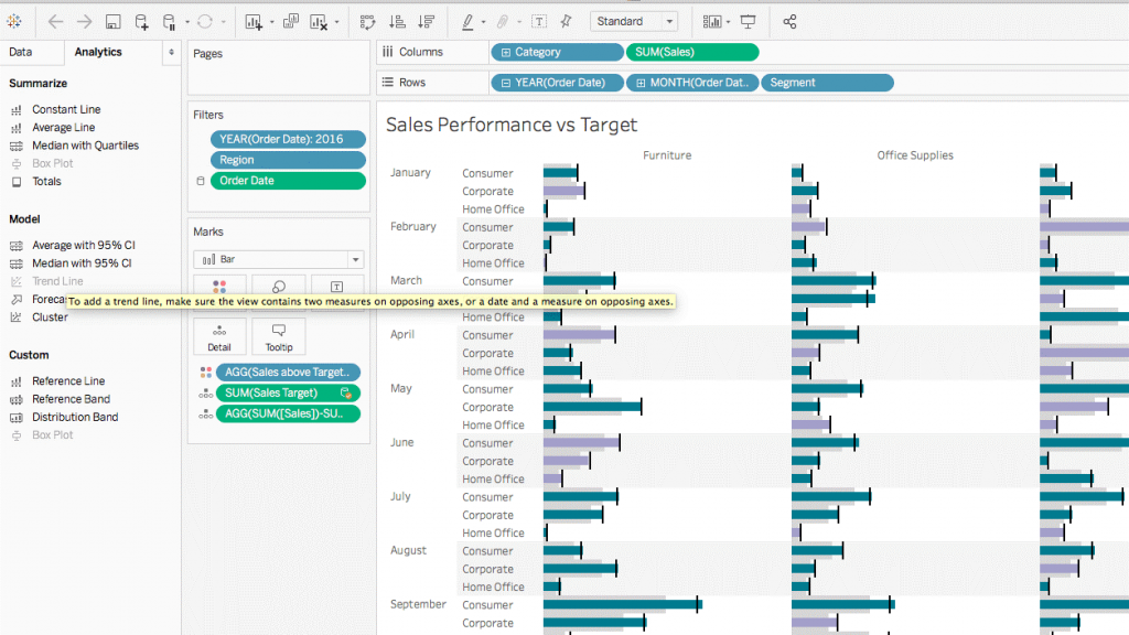 Blog Tableau 10.5 - Analytics Pane - Infotopics Tableau Gold Partner