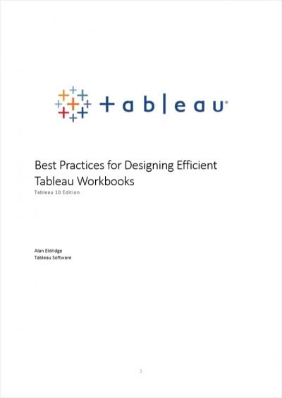 10 Best Practices for Building Effective Dashboards - Infotopics Tableau Gold Partner
