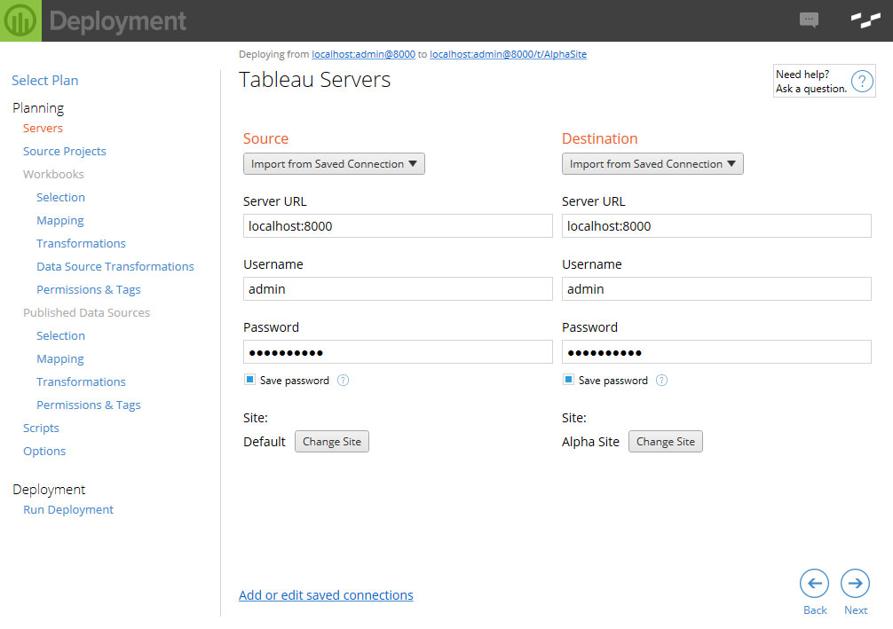 Powertools for Tableau Deployment sites and servers