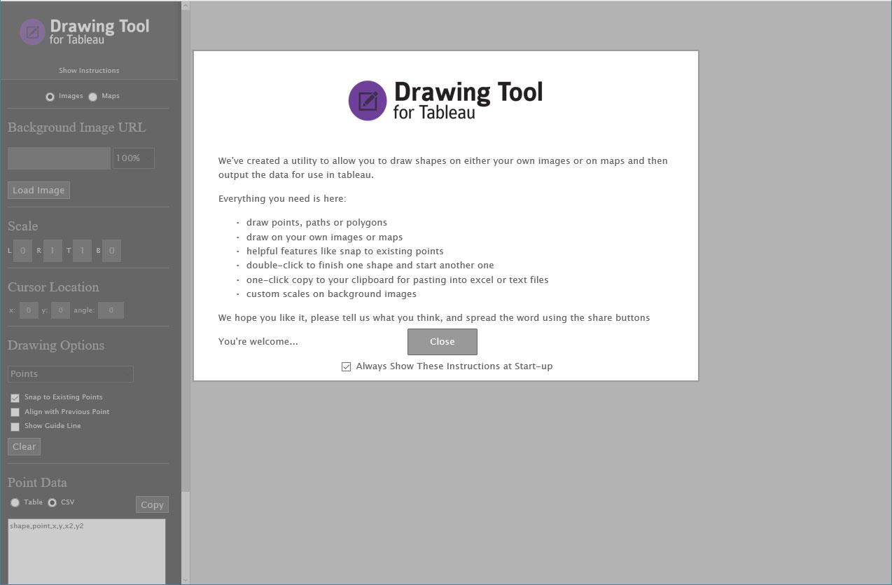 Powertools for Tableau Desktop Drawing Tool