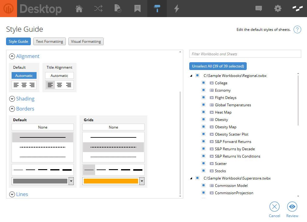Powertools for Tableau Desktop Style Management