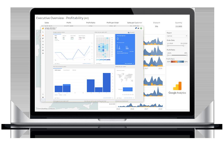 Apps for Tableau lees meer over Tableau Extensions. Dashboard Usage gebruikt Google Analytics voor het monitoren van alle interactions met je dashboards