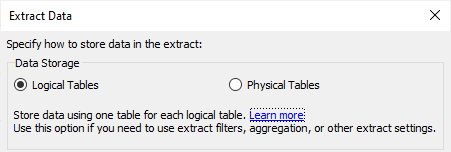 Data modelleren met Tableau Relationships - Extract data