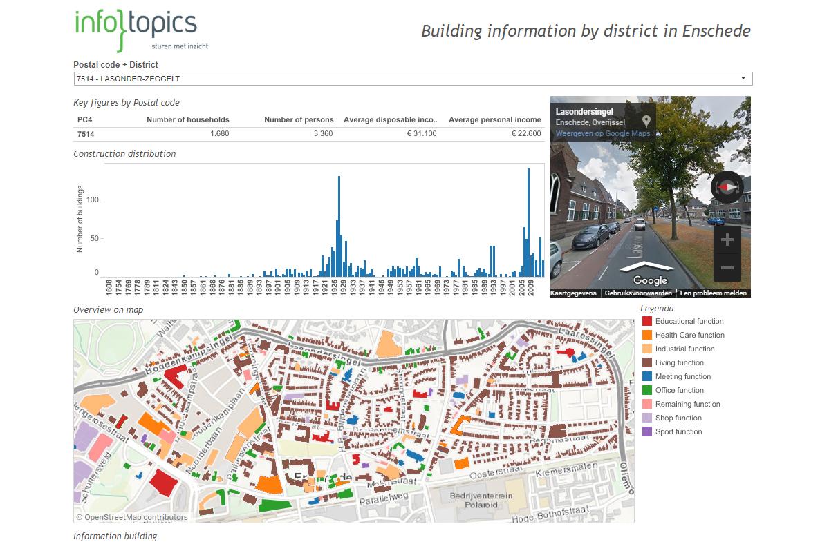 Enschede - BAG & Streetview dashboard