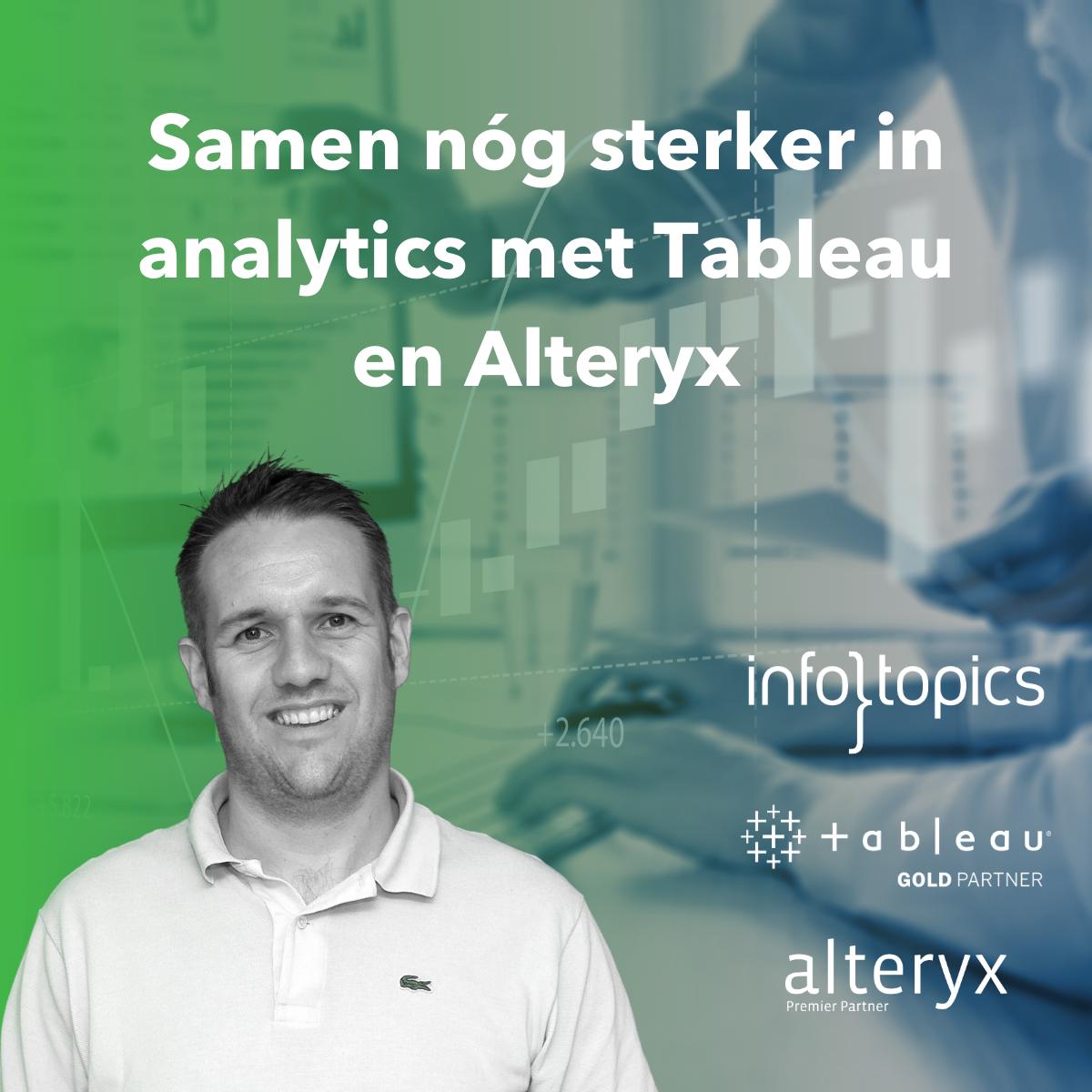 Samen nog sterker in analytics met Tableau en Alteryx
