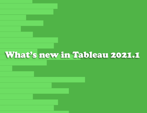 What's new in Tableau 2021.1