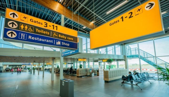 Vertrekhal Rotterdam The Hague Airport